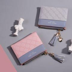 Cute Fashion Purse Leather Long Zip Wallet Coin Card Holder Soft Leather Phone Card Female Clutch(light gray)