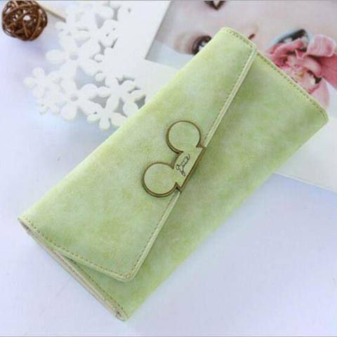 Ladies Purse Coin Purses Holders Lady Pocket Wallets(Light Green)