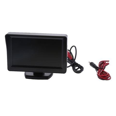 Eassycart Car Rear View Backup Monitor,4.3 Inch TFT LCD Color Display Car Rear View 180 Degree Adjustable Monitor Screen for Rearview Vehicle Backup Parking Cameras