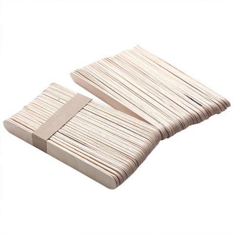100 PCS 15cm Wooden Spatulas Wipe Wax Tools Ice-cream Bar Sticks