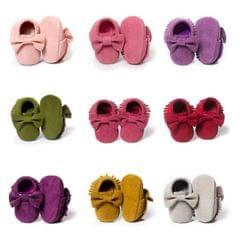 Baby Girls Shoes First Walkers Newborn Baby Moccasins Soft Sole Non-slip Footwear Shoes(Dark Pink)