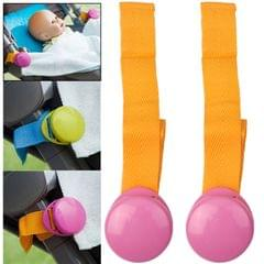 2 PCS Baby Stroller Clip Blanket Clip Baby Kicking Preventing Clip(Pink)