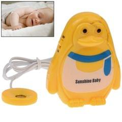 Lovely Penguin Style Wet Baby Alert Monitor Music Reminder Toy Monitoring Device(Yellow)