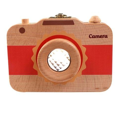 Creative Wooden Children Camera Deciduous Tooth Preservation Box Baby Teeth Tooth House Storage Box