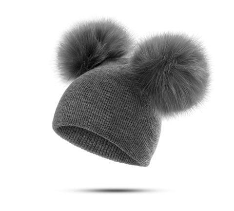 Children Hat Toddler Kids Baby Warm Winter Wool Hat(Red)