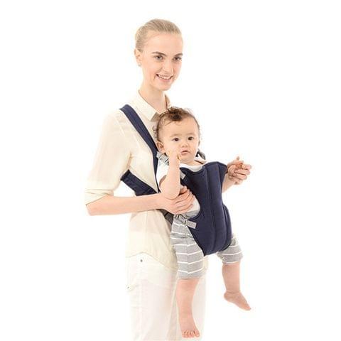 Infant Baby Ergonomic Breathable Mesh Sling Backpack Kangaroo Carrier for 1-4 Age(Dark Blue)
