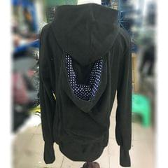 Three-in-one Multi-function Mother Kangaroo Zipper Hoodie Coat with Front Cap Size: S, Chest: 85-88cm, Waist: 65-67cm, Hip: 91-94cm (Black+Blue)