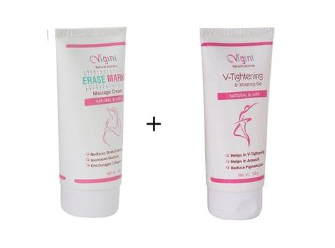 VIGINI Erase Marks Massage Cream+V-Tightening & Whitening Gel
