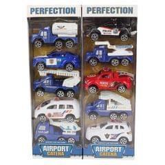 Planet of Toys Pullback Airport Series of 10 Cars