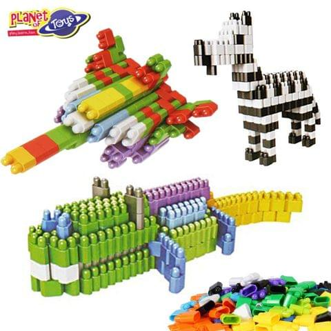 Planet of Toys 400pcs. Stem Education Series Blocks in Box with Wheels