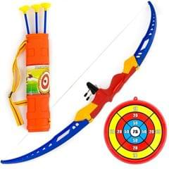 Planet of Toys Boys and Girls Archery Bow and Arrow Set with Target Board for Kids (Multicolour, POT951C)
