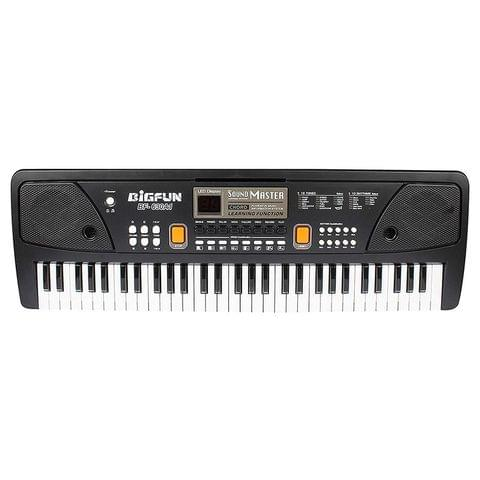 Planet of Toys 61 Keys Electronic Keyboard with Record and Digital Display and Mike