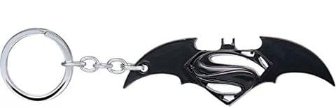 Mapple BATMAN VS SUPERMAN Black Colour Metal Keychain