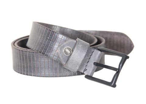 Designer Select Genuine Formal Black Leather Belt with Black Pin Buckle