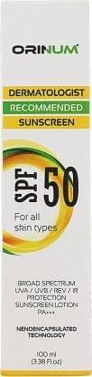 ORINUM Sunscreen Lotion - SPF 50 PA+++  (100 ml)