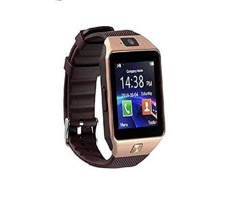 Konarrk Gear Z DZ09 Bluetooth Smart Watch - Sim & Memory Slot - Camera - Android Ios-Gold_Brown