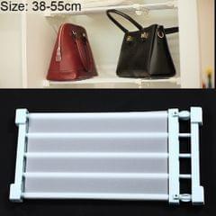 Wardrobe Storage Layered Baffle Cabinet Shelf Dormitory Partition Cupboard Partition Board, Width: 24cm, Stretch Range: 38-55cm (Baby Blue)