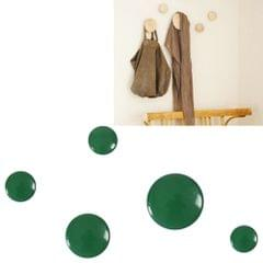 5 in 1 Wood Material Clothes Hanger Rack Round Hook Wall Hanger Pretty Home Decoration, Max Load Weight: 30kg(Green)