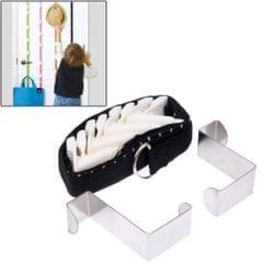 Adjustable Door Back Hook Belt with Scale (Black)