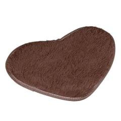 Heart Shape Non-slip Bath Mats Kitchen Carpet Home Decoration(Coffee)