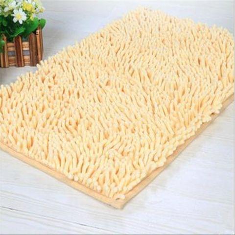 Doormat Anti-slip Floor Water Absorption Rug Bath Mat for Kitchen Bathroom Stairs(Beige)