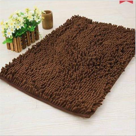 Doormat Anti-slip Floor Water Absorption Rug Bath Mat for Kitchen Bathroom Stairs(Coffee)