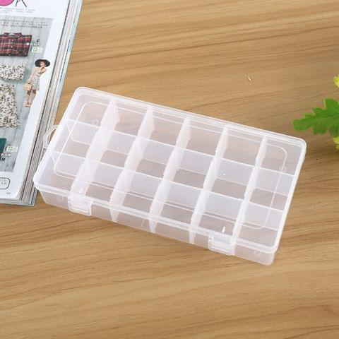 Plastic Organizer Container Storage Box 18 Slots Removable Grid Compartment for Jewelry Earring Fishing Hook Small Accessories