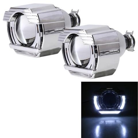IPHCAR G151 H1 2.5 inch 12V Bi-Xenon Projector Lens Headlight with Exquisite Angle Eyes Decoration for Right Driving (White Light)