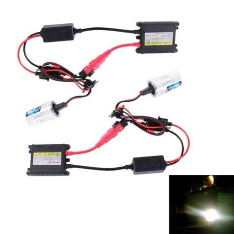 DC12V 35W 2x H7 Slim HID Xenon Light, High Intensity Discharge Lamp, Color Temperature: 8000K