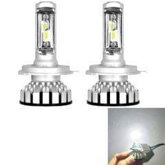2 PCS R8 9003/HB2/H4/Hi/Lo 30W 3500LM 6000K IP65 Waterproof Car LED Headlight with 2 COB Lamps, DC 9-36V (White Light)