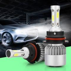 2 PCS S2 9004 / HB1 18W 6000K 1800LM IP65 2 COB LED Car Headlight Lamps, DC 9-30V(Cool White)