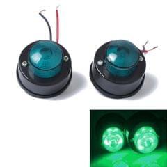 2 PCS 7LEDs Car Clearance Light Marker Light for Truck DC 12V(Green Light)