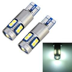 2 PCS T10 / W5W / 168 / 194 DC12V 2.2W 6000K 180LM 9LEDs SMD-3030 Car Clearance Light, with Decoder