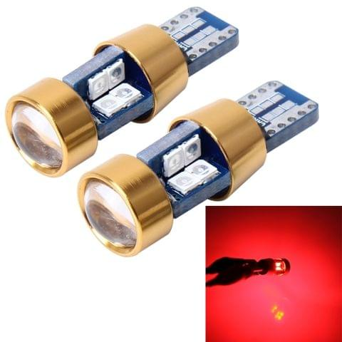 2 PCS T10 3W Error-Free Car Clearance Light with 19 SMD-3030 LED Lamp, DC 12V (Red Light)
