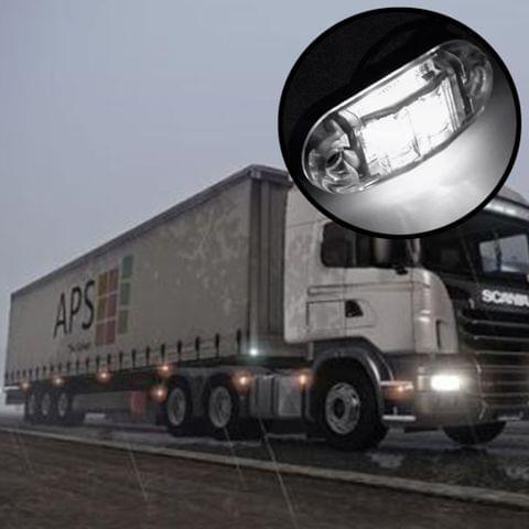 10 PCS DC 10-30V Car Truck Trailer Piranha 3-LED Side Marker Indicator Lights Bulb Lamp, Light Color: White