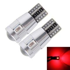 2 PCS T10 3W 6 SMD-5630 LEDs Error-Free Canbus Car Clearance Lights Lamp, DC 12V(Red Light)