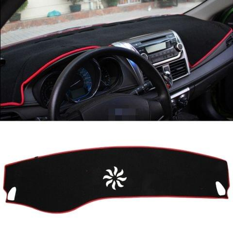 Dark Mat Car Dashboard Cover Car Light Pad Instrument Panel Sunscreen Car Mats for Cadillac (Please note the model and year)(Red)