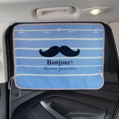 Mustache Pattern Car Large Rear Window Sunscreen Insulation Window Sunshade Cover, Size: 70*50cm