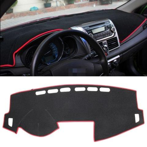 Dark Mat Car Dashboard Cover Car Light Pad Instrument Panel Sunscreen Car Mats for Volkswagen (Please note the model and year)(Red)