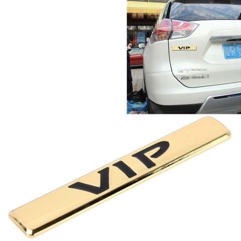 Auto VIP Sticker  VIP Label Car Stickers 3D Metal Fashion VIP Logo Car Stickers,Size:9.5*1.5cm(Gold)