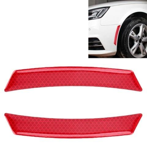 2 PCS Car-Styling Wheel Eyebrow Decorative Sticker Decorative Strip (Red)