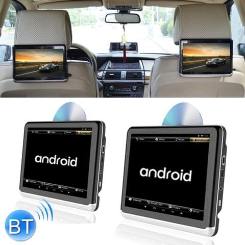 2 PCS A10D Universal Full HD 10.1 inch Android 6.0 Car Seat Back Radio Receiver MP5 Player, Support Mirror Link / WiFi / FM, with DVD Play and Battery