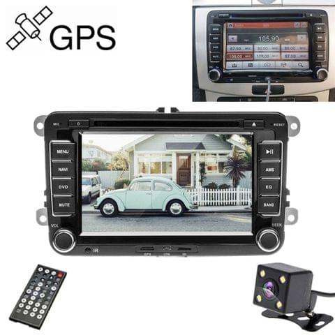 K0212 HD 7 inch Car Rear View Mirror Monitor Camera DVD Player GPS Navigation Player Stereo Radio for Volkswagen, Middle East Map