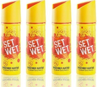 Set Wet Mischief Avatar Deodorant Deodorant Spray - For Men(150 ml, Pack of 3)
