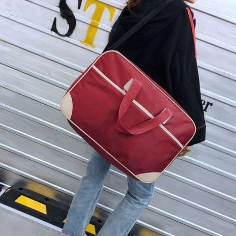 Nylon Shoulder Travel Bag Leisure Sport Handbag (Red)