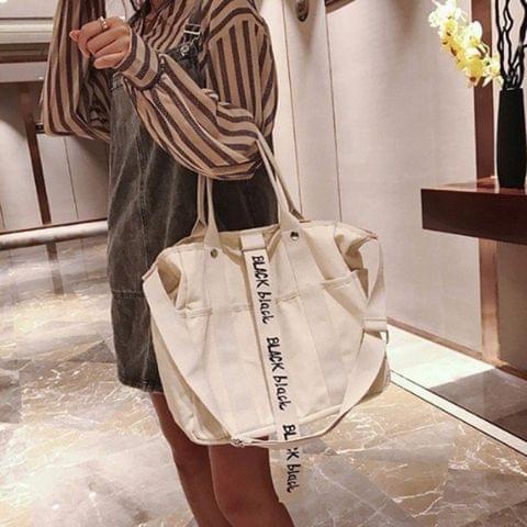 Leisure Canvas Shoulder Travel Bag Leisure Handbag (White)
