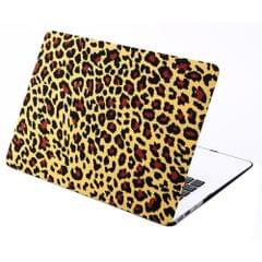 Brown Leopard Print Frosted Hard Plastic Protective Case for Macbook Air 13.3 inch