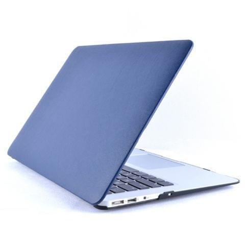 Laptop PU Leather Paste Case for MacBook Pro 15.4 inch A1990 (2018) / A1707 (2016 - 2017) (Dark Blue)