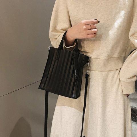 PU Leather Single Shoulder Bag Ladies Handbag Messenger Bag (Black)