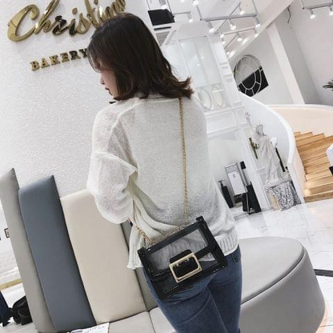 Leisure Fashion Shoulder Bag Messenger Bag Handbag (Black)